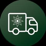 Flower truck icon